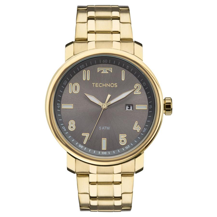 a2ca1df1496 Relógio Technos Dourado Masculino Classic Steel 2115MNG 4C