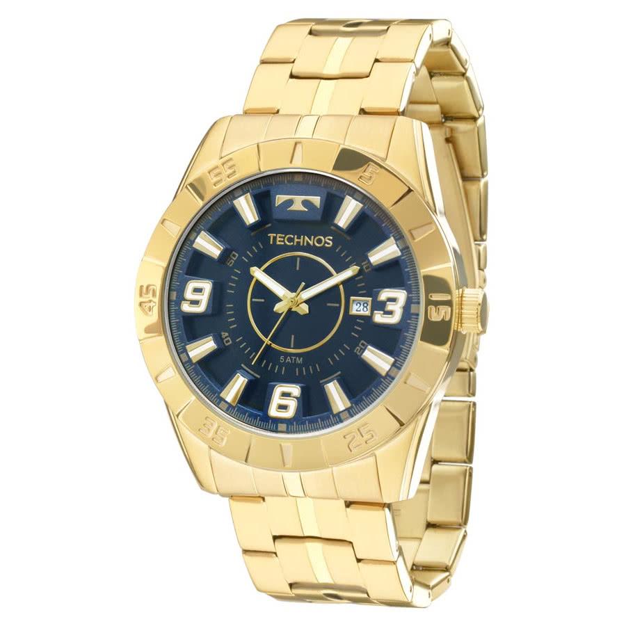 Relógio Technos Dourado Masculino Racer 2115KYZ 4A 50d6feadfa