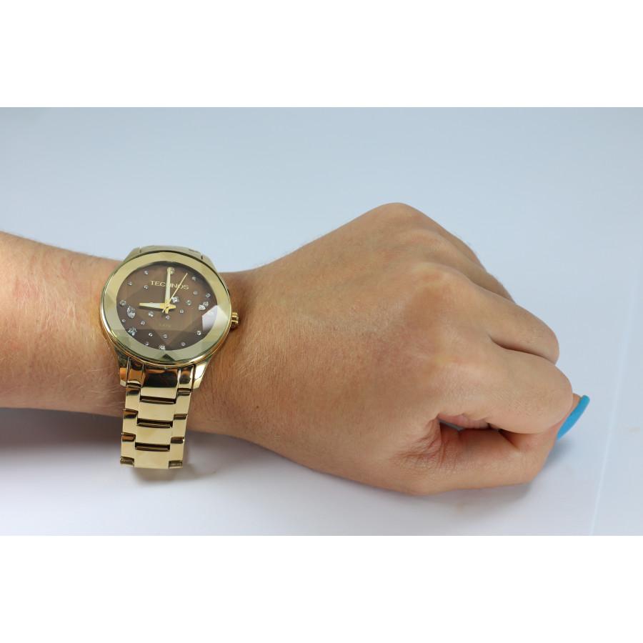 Relógio Technos Dourado Feminino Elegance Crystal 2039AT 4M 60d1753748