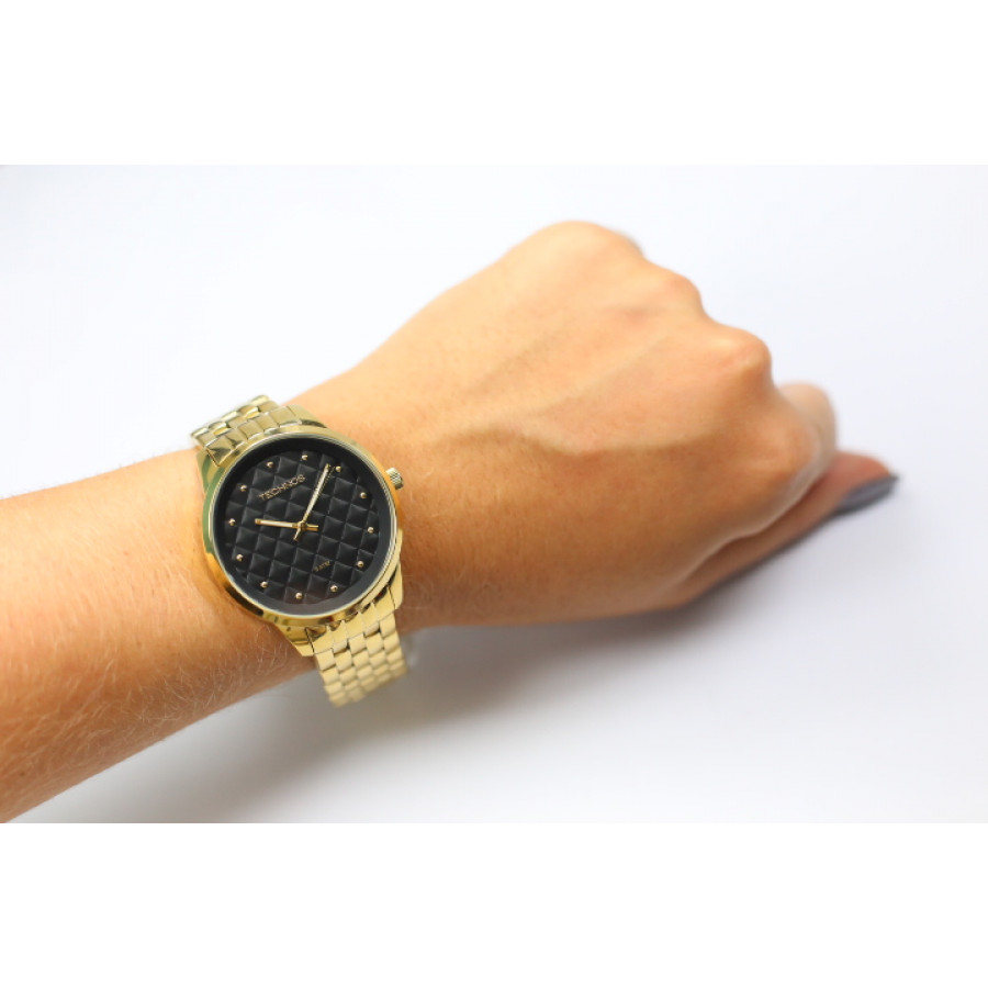 24aef25d4f Relógio Technos Feminino Dourado Fashion Trend 2035LWM 4P