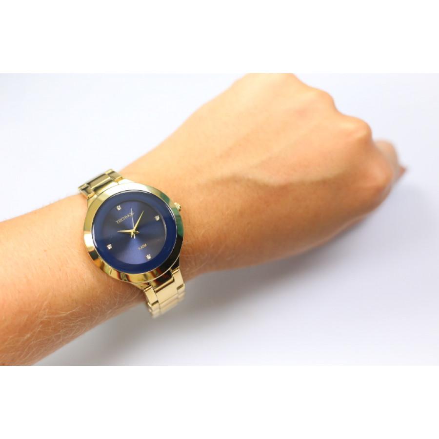 3ed86c846cff4 Relógio Technos Dourado Feminino Elegance St. Moritz Analógico ...