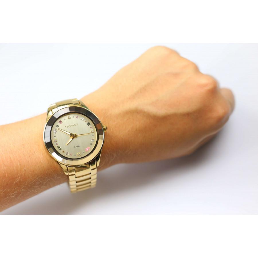 1eca694b764 Relógio Technos Feminino Elegance Crystal 2036LMS 4X