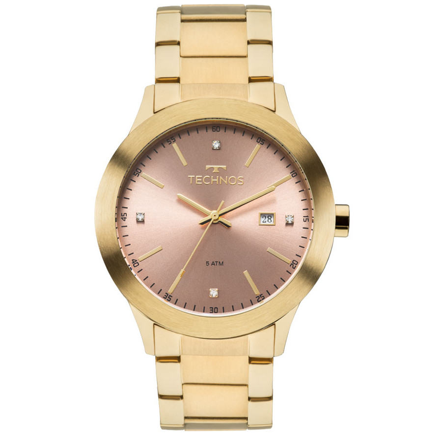 2edb7130117 Relógio Technos Feminino Dourado Fashion Trend 2115MKR/4T - Estilos