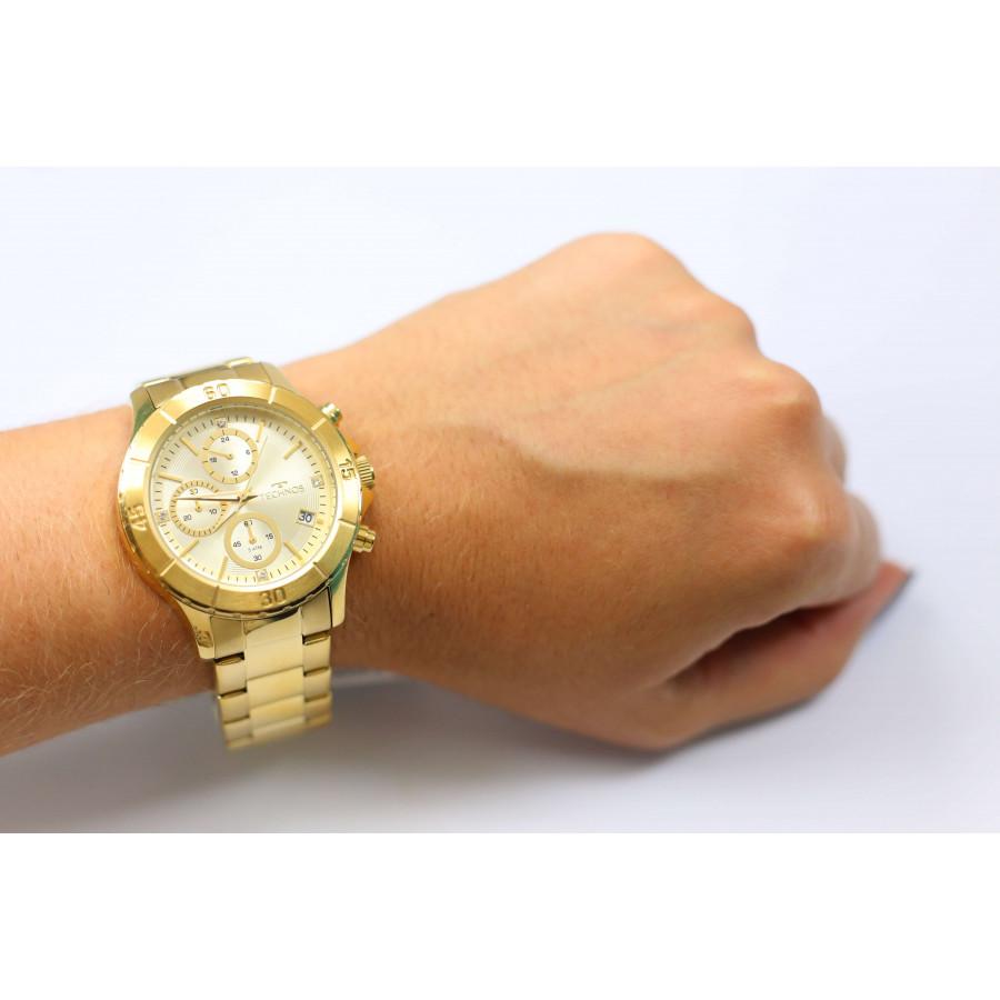 44febbd3f04 Relógio Technos Dourado Feminino Elegance Dress JS15BM 4D