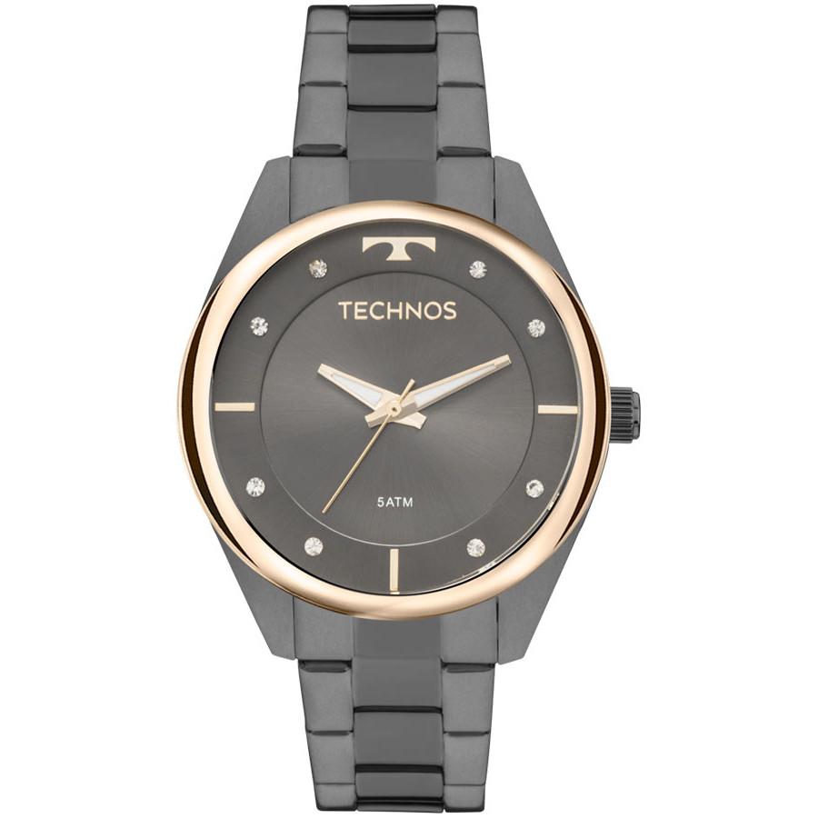 9655093946342 Relógio Technos Grafite Feminino Fashion Trend 2035MLD 4P