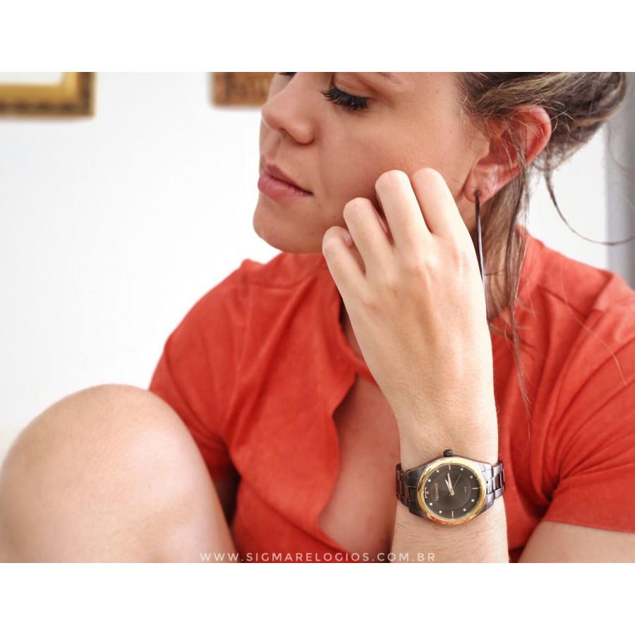 05e67ca159a Relógio Technos Grafite Feminino Fashion Trend 2035MLD 4P
