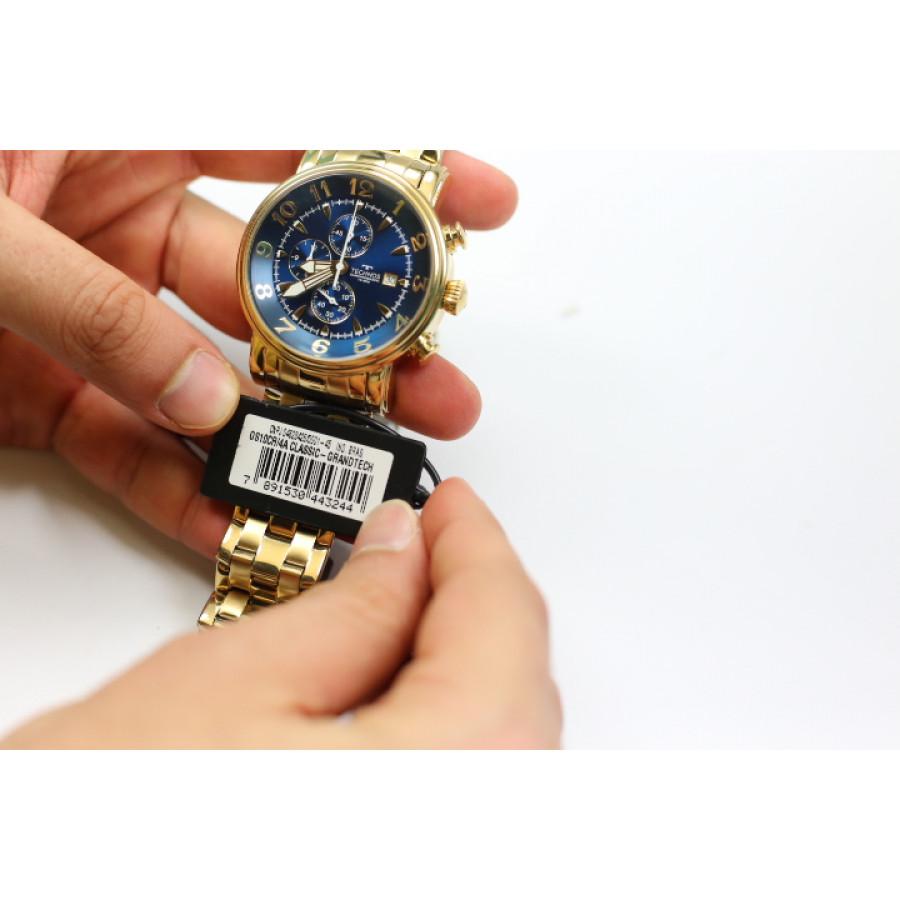 8e6546d22a8e6 Relógio Technos Dourado Masculino Grandtech Cronógrafo OS10CR 4A