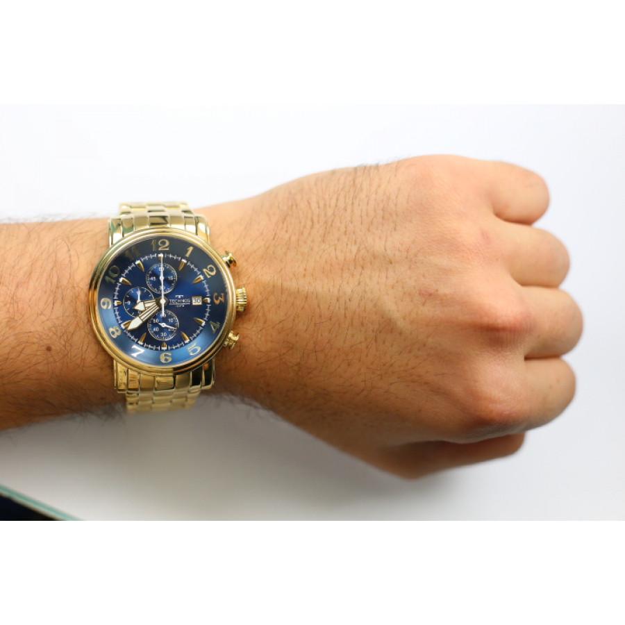 583d3ae8a94 Relógio Technos Dourado Masculino Grandtech Cronógrafo OS10CR 4A