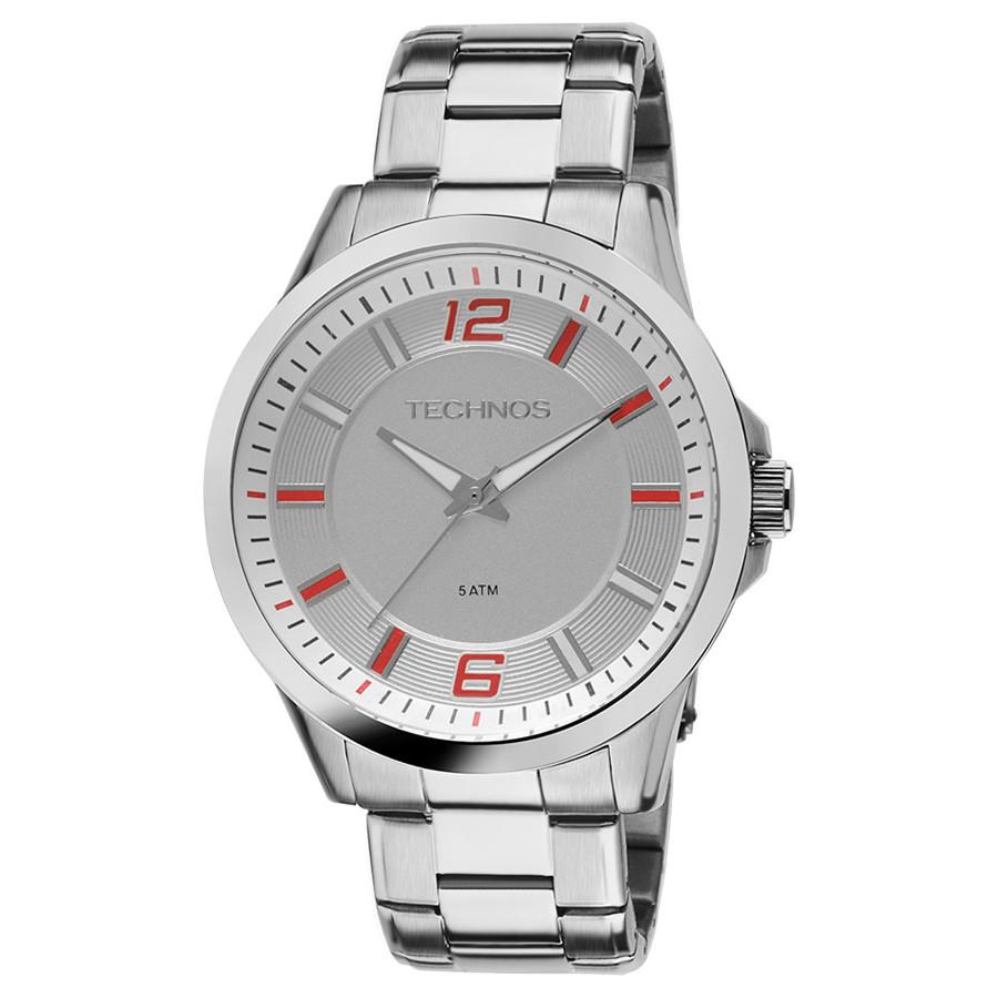 Relógio Technos Masculino Prateado Racer 2036LNY 1B ad0d5f1c51