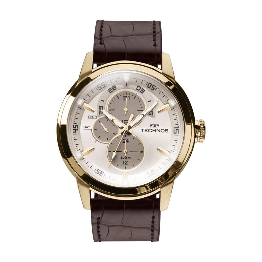 Relógio Technos Masculino Classic Grandtech com Pulseira de Couro 6P57AC 2C 1960eaed30
