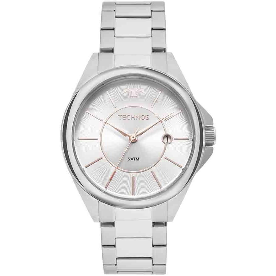 Relógio Technos Prateado Feminino Elegance Dress 2115MOQ 1B 2107bfa6a6