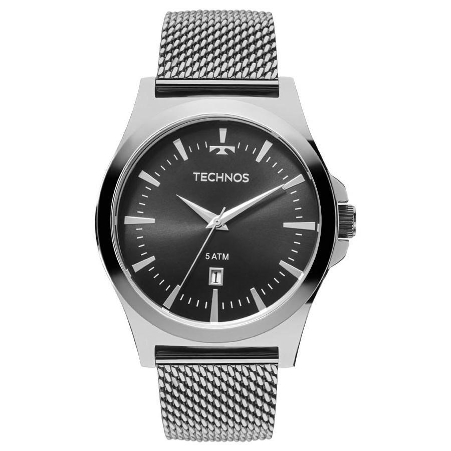 48c2a4252ad Relógio Technos Masculino Prateado Classic Steel 2115LAL 0P