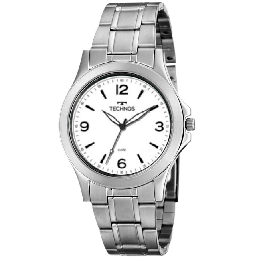 Relógio Technos Prateado Masculino Classic Steel 2035MNF 1B c6eaf518c0