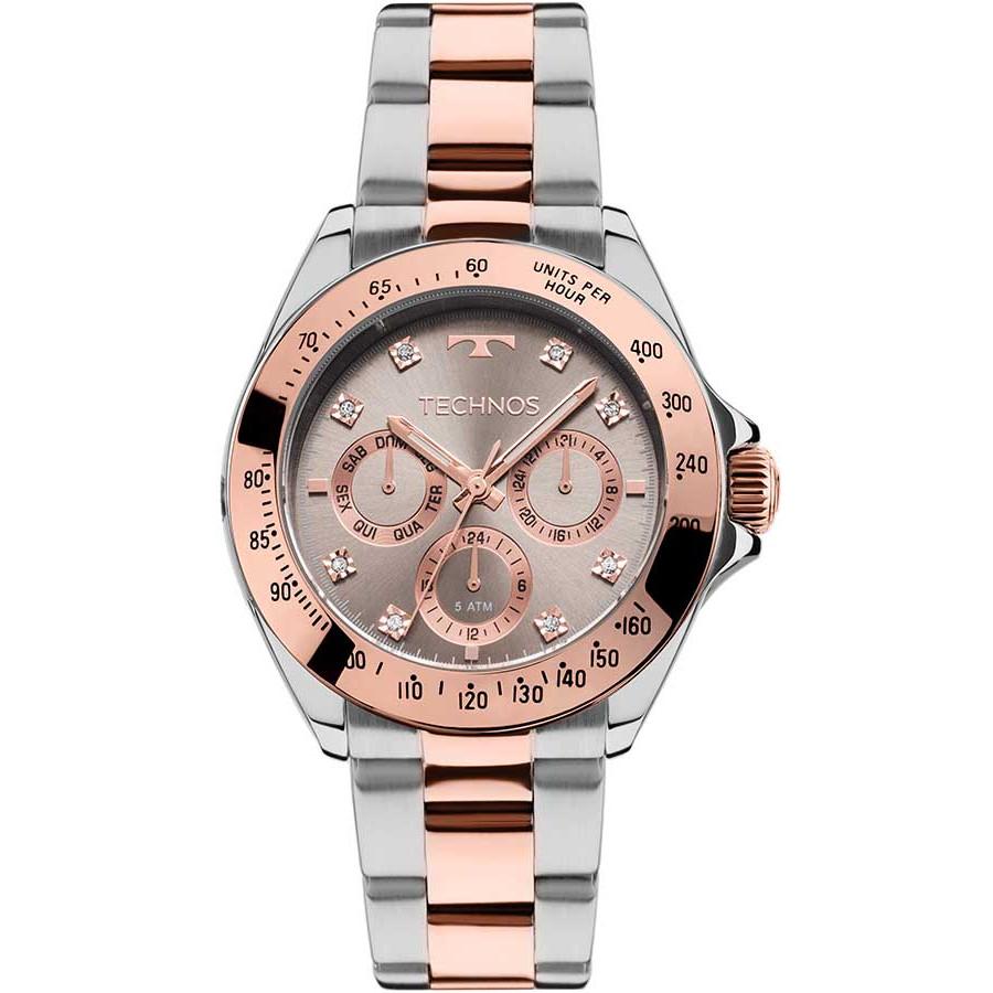 Relógio Technos Prateado e Rosé Feminino 6P29AJQ 5C 53a78fb5fe
