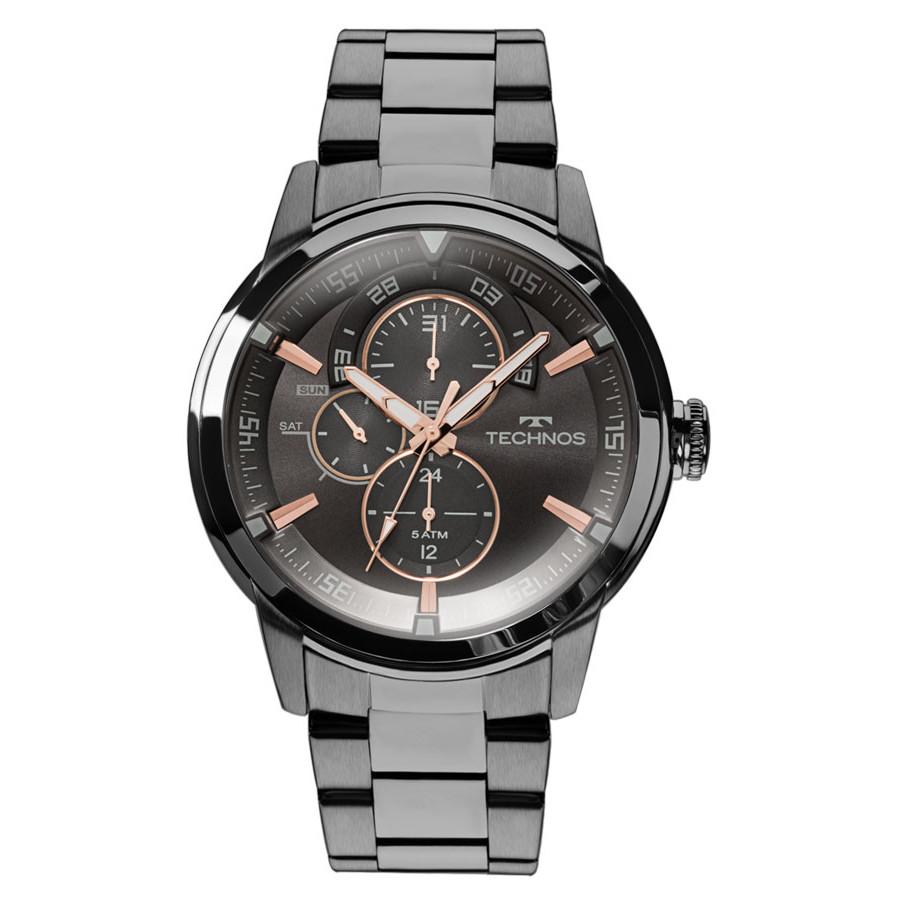 95a3113d95b Relógio Technos Masculino Preto Classic Grandtech 6P57AB 4P - Gêneros