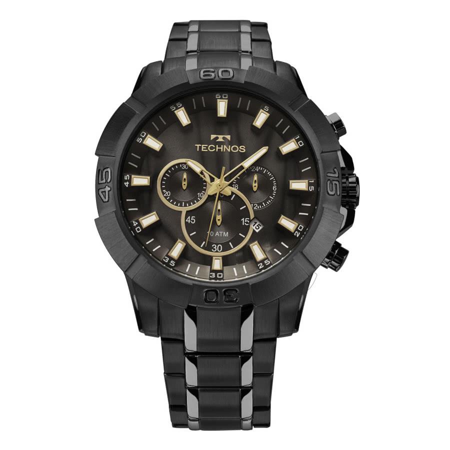 03b41edb0f6 Relógio Technos Preto Masculino Legacy Cronógrafo JS26AG 4P