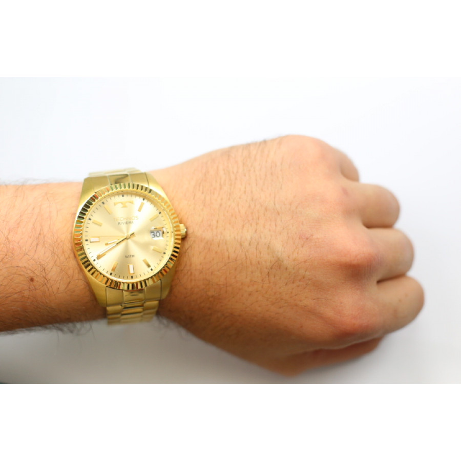 2b47c98a151 Relógio Technos Dourado Feminino Classic Riviera 2415CH 4X
