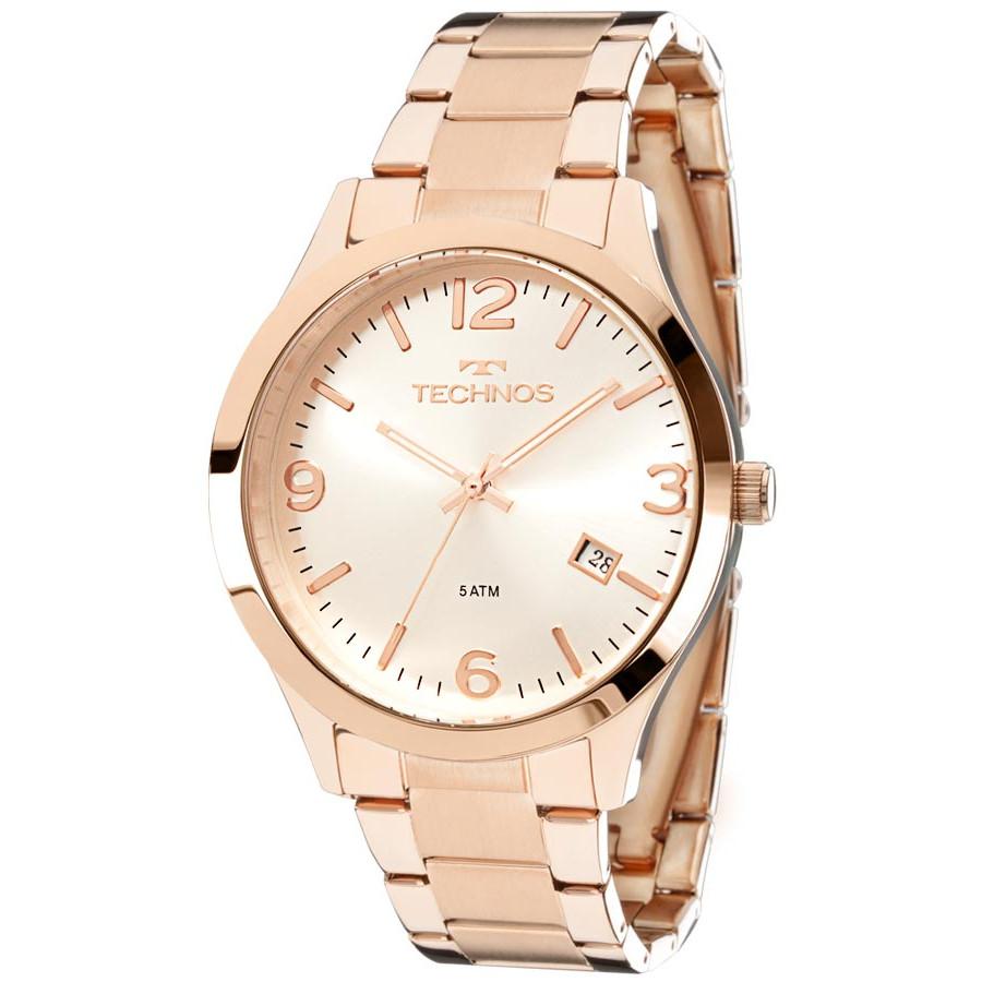 12eb1ad9d4e Relógio Technos Rose Feminino Elegance Dress 2315ACJ 4K