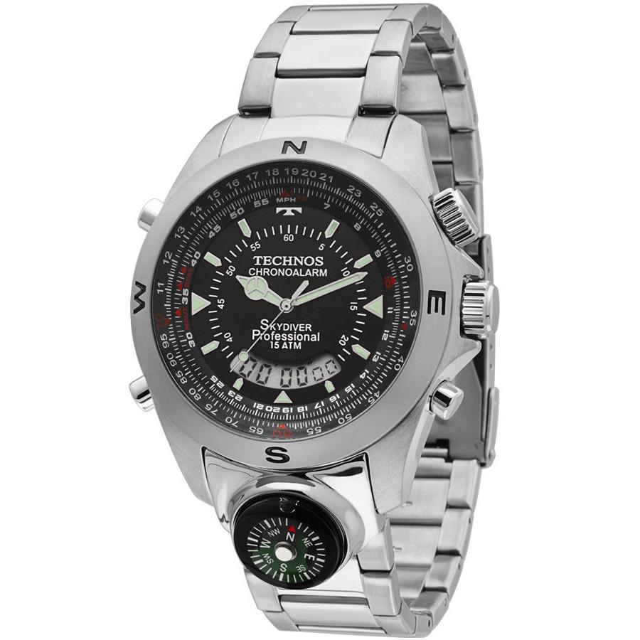 e47c92640ba Relógio Technos masculino Performance Skydiver T20566 1P