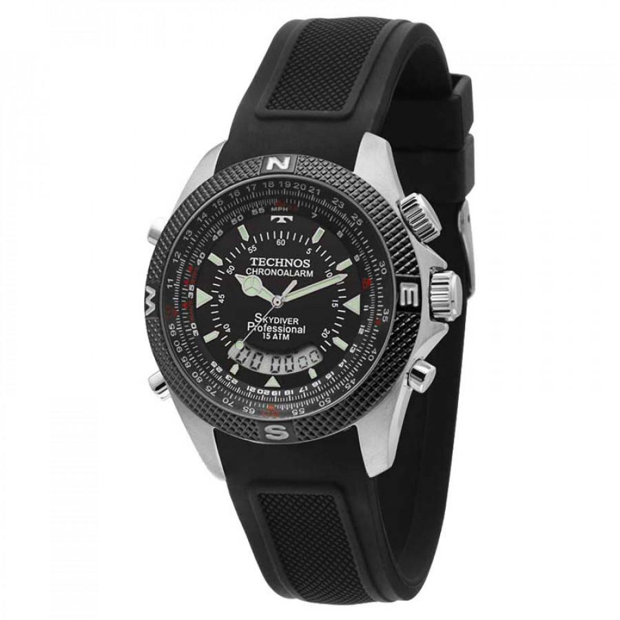 f7f65b46391 Relógio Technos Masculino Performance Skydiver T205FH 8P com Pulseira de  Silicone