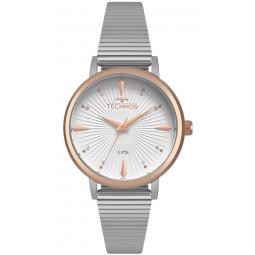 b638e857ca Relógio Technos Prateado e Rose Feminino Riviera 2115KTS 3M