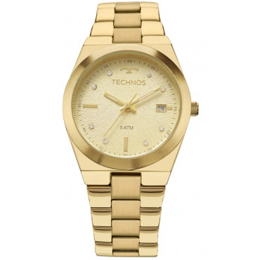 26c0e037ec4 Relógio Technos Dourado Feminino Fashion Trend 2115KZR 4X